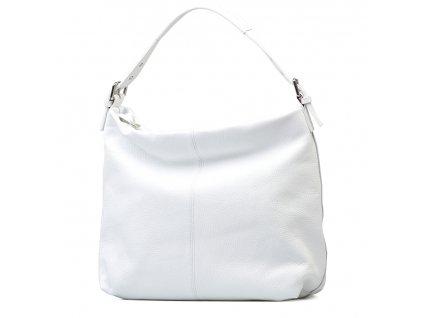 Kožená kabelka Felisa bílá