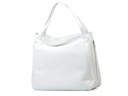 Kožená kabelka Zanda bílá