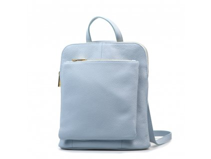 Kožený batůžek Tabby světle modrý