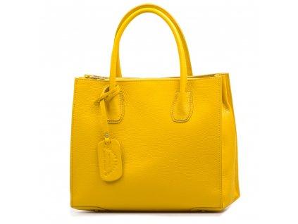Kožená kabelka Delma žlutá