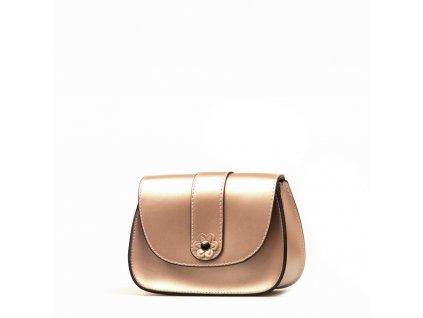 Kožená crossbody kabelka Mirela růžová