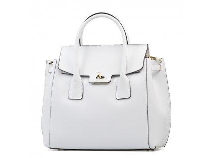 Kožená kabelka Prisca bílá
