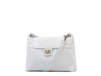 Kožená kabelka Carina bílá