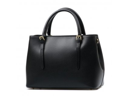 Kožená kabelka Deana černá