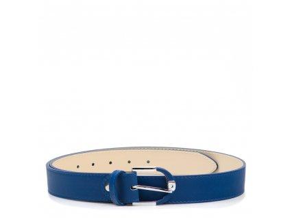 Dámský kožený opasek modrý