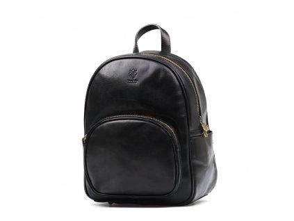 Kožený batůžek Zola černý