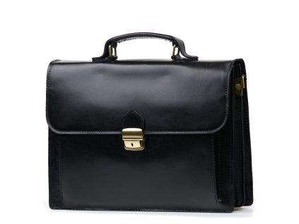 Kožená pracovní taška Alex černá