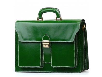 Kožená pracovní taška Medea zelená