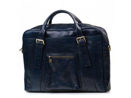 Kožená pracovní taška Elti modrá
