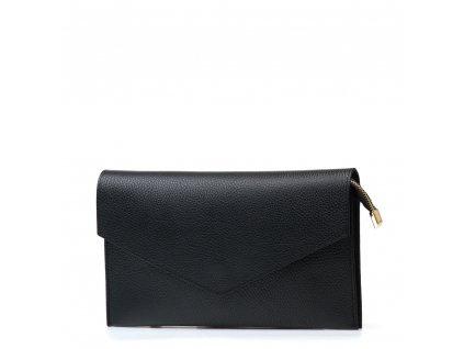Kožená kabelka-psaníčko Naomi černá