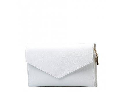 Kožená kabelka-psaníčko Naomi bílá