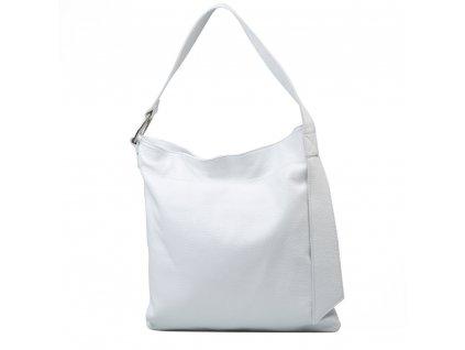 Kožená kabelka Carlotte bílá