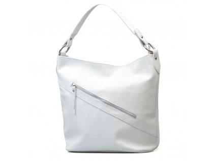 Kožená kabelka Karina bílá