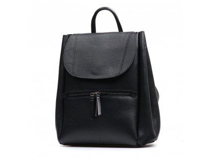 Kožený batůžek Grace černý