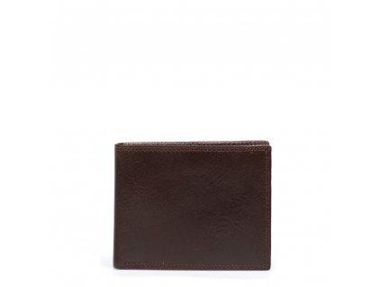 Pánská kožená peněženka Ena tmavě hnědá