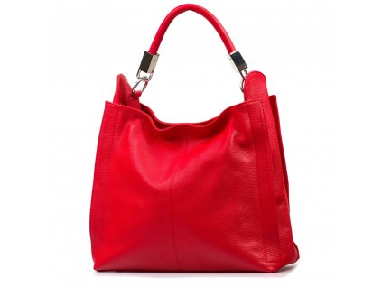 Kožená kabelka Rufa červená
