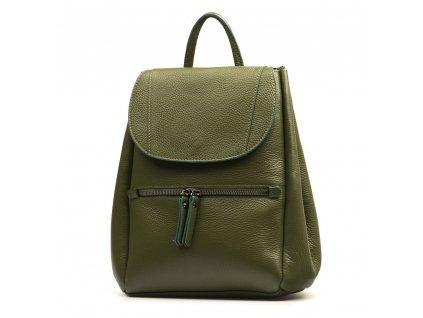 Kožený batůžek Grace zelený