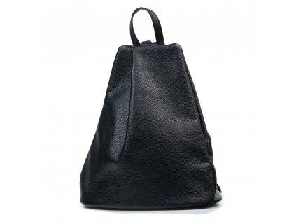 Kožený batůžek Ziena černý