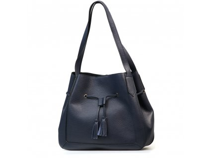 Kožená kabelka Beatrice modrá