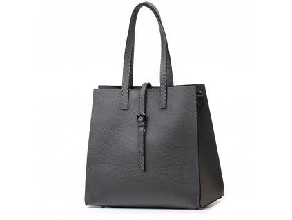 Kožená kabelka Olivia šedá