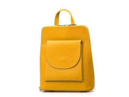 Kožený batůžek Lotta hořčicově žlutý