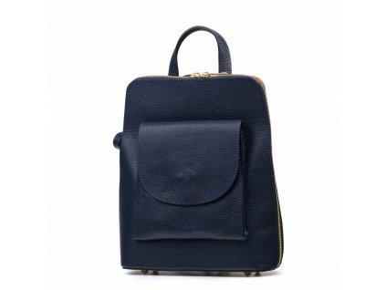 Kožený batůžek Lotta modrý