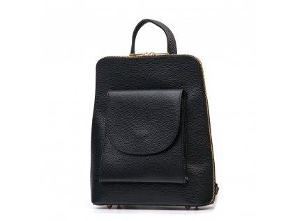 Kožený batůžek Lotta černý