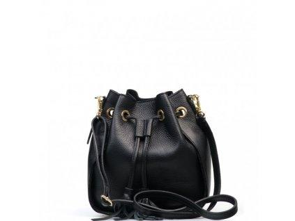 Kožená kabelka Linna černá