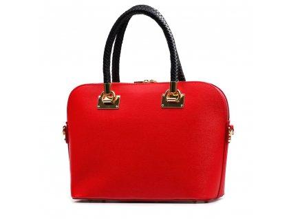 Kožená kabelka Leda červená