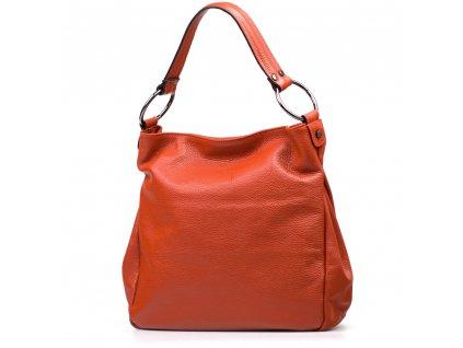 Kožená kabelka Antonella oranžová