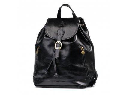 Kožený batůžek Paolo černý