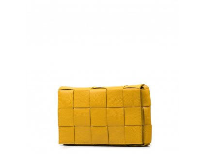 Kožená crossbody kabelka Ruth hořčicově žlutá