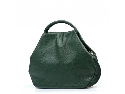 Kožená kabelka Talia zelená