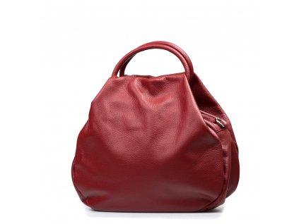 Kožená kabelka Talia vínově červená