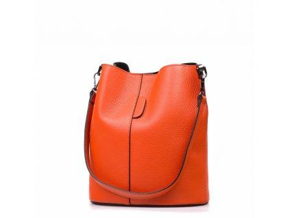 Kožená kabelka Nita oranžová