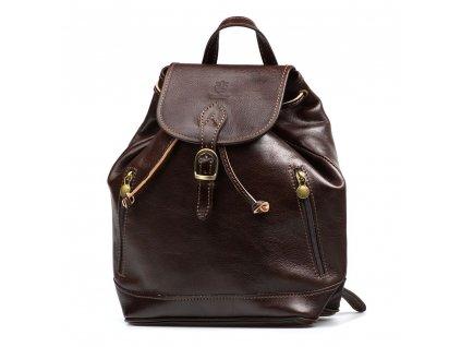 Kožený batůžek Paolo tmavě hnědý