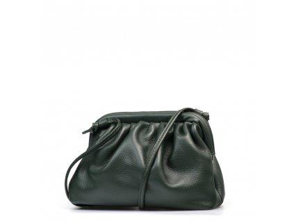 Kožená kabelka Selma zelená