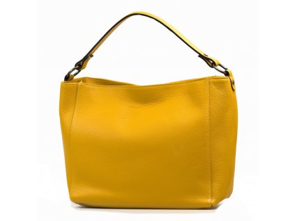 Kožená kabelka Agata hořčicově žlutá