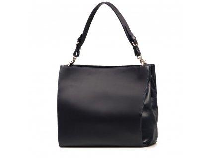 Kožená kabelka Chiara tmavě modrá