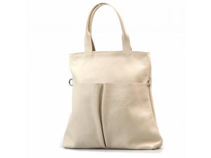 Kožená kabelka Brunella béžová