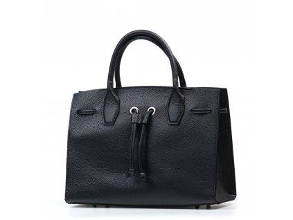 Kožená kabelka Reneta černá