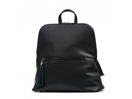 Kožený batůžek Noemi černý