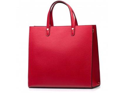 Kožená kabelka Valeria vínově červená