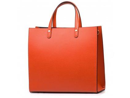 Kožená kabelka Valeria oranžová