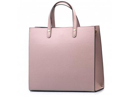 Kožená kabelka Valeria pudrově růžová