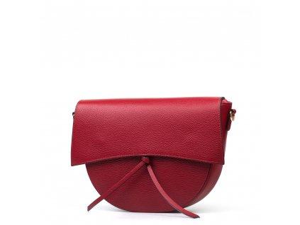Kožená kabelka Guilia vínově červená