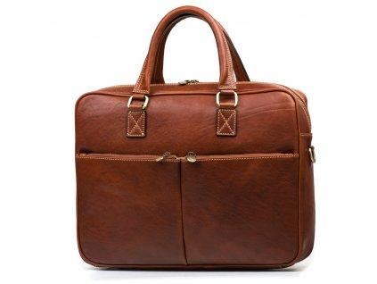 Kožená pracovní taška Daniele hnědá