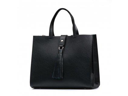 Kožená kabelka Serena černá