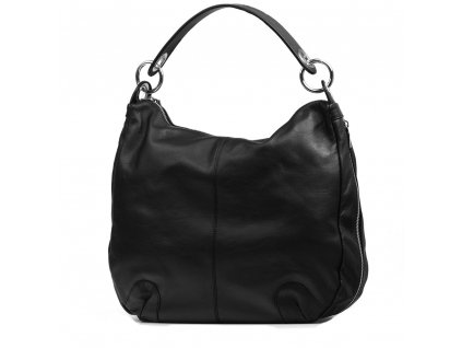 Kožená kabelka Ilaria černá