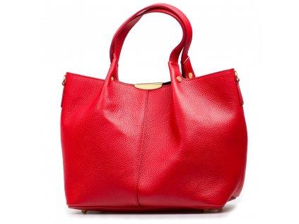 Kožená kabelka Maurin červená